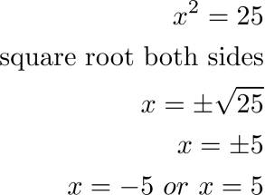 Quadratic Equations and the Square Root Property